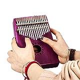 Lifesongs réseaux d'information Régionaux intégrés 17touches d'acacia Carolinba pouce Piano Ensemble Kalimba Lot (Random Couleur du Chiffon pour essuyer Kalimba et stickers clavier) rose vif...
