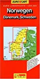 RV Euro-Länderkarte 1:800 000 Norwegen - Dänemark, Schweden - Collectif
