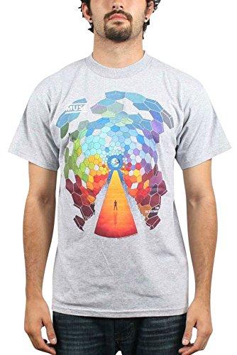 Muse Globale Abdeckung Herren Kurzarm T-Shirt in Grau, XX-Large, Grey (Kurzarm-abdeckung)