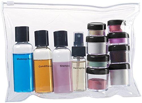 Sichler Beauty Reiseflaschen Sets: Reißverschluss-Tasche mit 12 Kosmetik-Behältern Fürs Flug-Handgepäck (Reiseset Kosmetik)