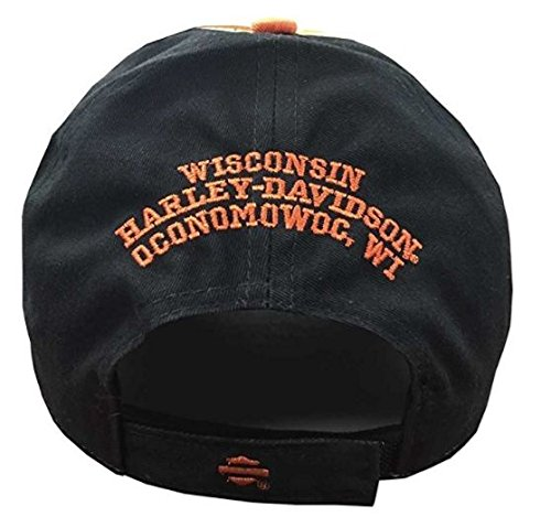 51327cec3737b 19% OFF on Harley-Davidson Men s Embroidered H-D Script Colorblocked Baseball  Cap BCC51680 on Amazon