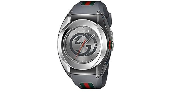 0dbc66d636d Gucci Men s Analog Swiss-Quartz Watch with Rubber Strap YA137109  Amazon.co. uk  Watches