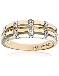 Naava 9ct Yellow Gold Ladies Diamond Ring