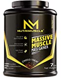 NUTRIMUSCLE MASSIVE MUSCLE MASS GAINER - 7 LBS - 3.175 KGS - CHOCO TREAT FLAVOUR - FOR MUSCLE AND MASS GAIN - MADE IN…