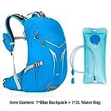 EUDHGK 20L Fahrradrucksack, Fahrradrucksack mit Regenschutz, Wasserdichter Fahrradrucksack Ohne Wasserbeutel Blue with Water Bag 20L