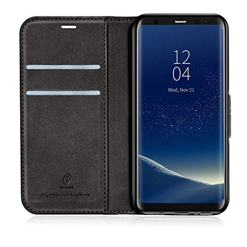 J Jecent Samsung Galaxy S8 Hülle Galaxy S8 Handyhülle PU Flip Leder Cover mit Cash Card Slots, Ständer Funktion & Magnetverschluss Wallet Case für Galaxy S8
