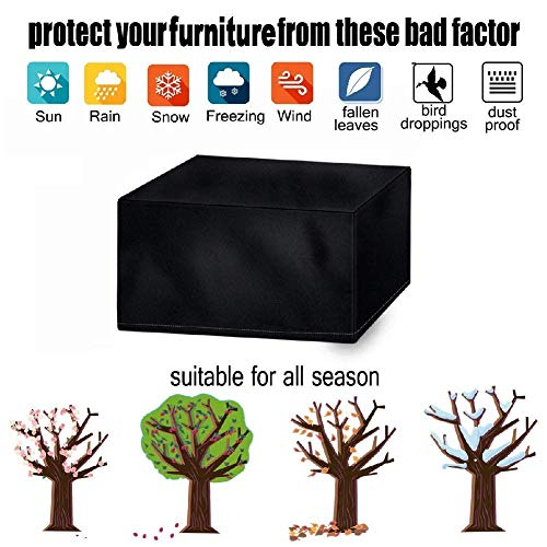 Gartenmöbel-Set, wasserdichter Tisch und Stuhl im Freien, Sofabezug Ripstop Oxford Cloth (Size : 250 * 250 * 90cm) -