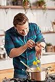 Tefal H80302 Jamie Oliver Premium Inox Induction Wave Pfanne (20 cm, antihaftbeschichtet) edelstahl