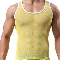 VENMO Camisetas de Tirantes, Hombres de Hielo Seda Perspectiva Casual Gimnasio Muscular Verano Camisetas sin mangas