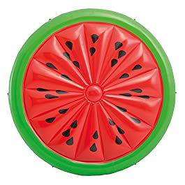 Intex 56283EU Materasso Gonfiabile a Forma di Anguria, Rosso/Verde, 183 x 23 cm