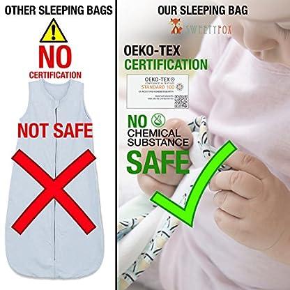 ⭐ Saco de Dormir Bebe Verano y 4 Estaciones Recien Nacido, TOG 1 y TOG 2,5 – Algodón 100% Eco, Certificado Sin Productos Químicos – Unisex Saquito Bebe – Cierre de Seguridad Verde Japan Style