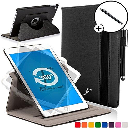 Forefront Cases® Apple iPad Pro 9.7 A1673 (Lanzado en Marzo el año 2016) Funda Carcasa Stand Smart Case Cover Protectora Giratorio de Cuero - Ultra delgado y ligero con dispositivo de Protección Completa + Lápiz óptico