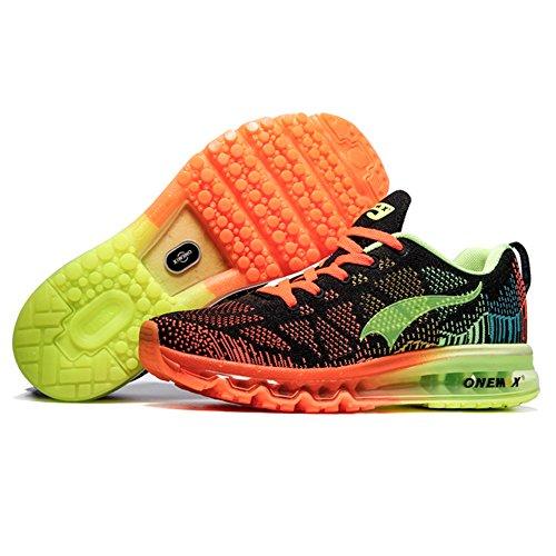 ONEMIX Air Scarpe da Ginnastica Corsa Basse Donna Uomo Sportive Basket Running Sneaker Estive Black Yellow