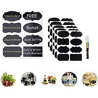 Etichette autoadesive Kit tavolo nero ~ 40 x Sticker Tag marcatore gesso liquido, tra cui ~ 8 con forme uniche