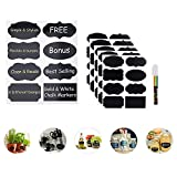 Premium Stickers Chalkboard Labels with Liquid Chalk Marker-for Your Home Office Kitchen Stickers Dishwasher Freezer Safe Kids Rewritable