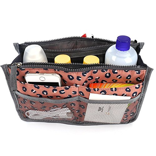 Ladies Large Handbag Organiser - Pink Leopard