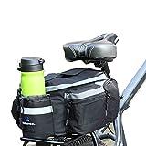 Fafada Multifunktions Fahrrad Radfahren MTB Gepäckträgertasche Outdoor Gestell Schulter Reise 10L Schwarz
