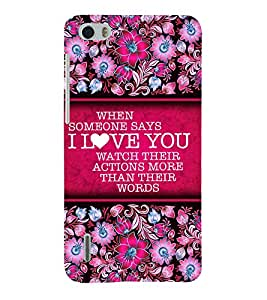 Love Message 3D Hard Polycarbonate Designer Back Case Cover for Huawei Honor 6