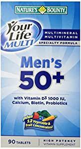 Nature's Bounty Your Life Multi Men'S 50+ - 90 Tablets
