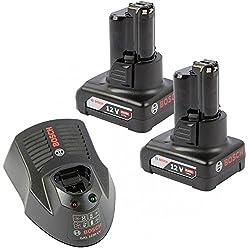 Bosch GBA Ersatzakku 12V 4.0 Ah 2 St. Einschub-Akku O-B Professional plus Schnellladegerät GAL 1230 CV