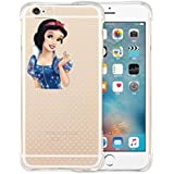 Phone Kandy® A prueba de choques princesa de Disney Anti colisión transparente claro de TPU Funda de silicona ultra fina y protector de la pantalla - Pemium (iPhone 7 PLUS, Snow White #3)