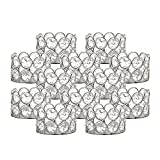 VINCIGANT Portacandele in Argento Tea Set da 12 Set per centrotavola per la casa di Nozze Centrotavola Decor Living Room o Sala da Pranzo (Senza Candele aggiuntive)