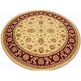 Runder Orientteppich Ziegler ca. 303 cm Ø Beige - feine Qualität - moderner Teppich - oriental round carpet Zigler best quality