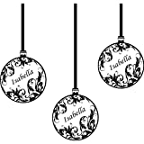 3 er Set Weihnachtskugeln (20 cm) mit Ihrem Wunsch-Namen, erhältlich in 18 Farben Weihnachts-Dekoration, personalisierbar, mit Wunsch-Namen, alle Namen, Weihnachtskugeln und Windows-Wand Windows-Art Wandaufkleber, ThatVinylPlace Wandtattoo
