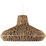 MiniSun - Moderna lámpara de techo 'Hamilton' hecha de cuerda y sabor rústico