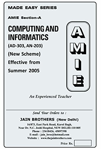 AMIE Computing and Informatics AN-303/AD-303 Solved Paper