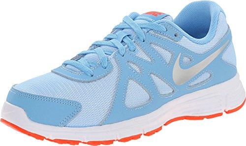 Nike Mädchen Revolution 2 (GS) Turnschuhe, Azul (Lksd/Mtllc Slvr-White-Brght Cr), 38 EU - 2 Nike Revolution Mädchen