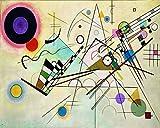 Legendarte P-204a Quadro di Wassily Kandinsky-Composizione VIII, Stampa Digitale su Tela, cm. 40x50, Multicolore