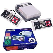 Consola Classic Mini Manija de control doble + salida HDMI- incorporada en 600 videojuegos retro