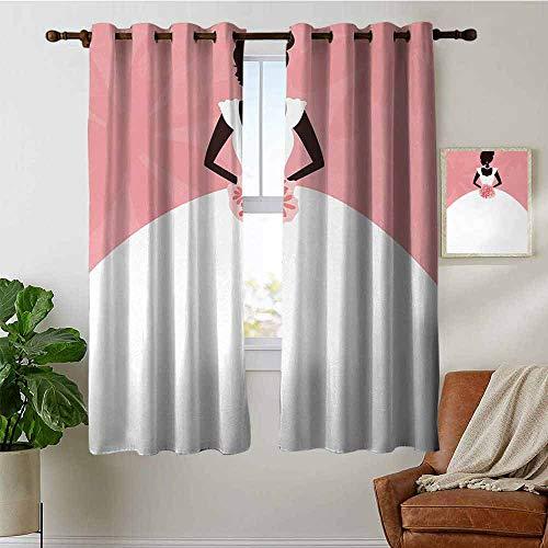 petpany Vorhänge für Schlafzimmer, Brautdusche, Zitat