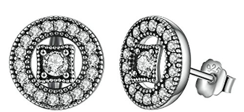 saysure-925-sterling-silver-vintage-allure-clear-cz-stud-earrings