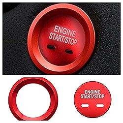 FFZ Parts Start Stop Ring Abdeckung Alu Rot Blende Rahmen Passend Für Astra Insignia Mokka X Crossland X Grandland X