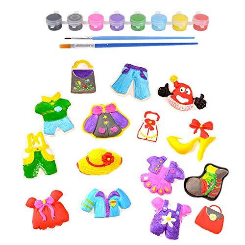 szseven Kids Arts and Crafts Kit Juguete Ropa Colorida Juego de Pintura Niños Yeso Puzzle Juegos de Juguetes Educación temprana Suministros de Dibujo Herramientas para niños pequeños Bebés y niñas