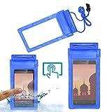 Acm Waterproof Bag Case for Ivoomi Me2 Mobile (Rain,Dust,Snow & Water Resistant) Blue