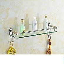 Estantes de baño/Cristal toallero de acero inoxidable/Estantes de baño/Estantes de baño-A