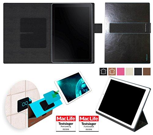 reboon Hülle für Samsung Galaxy Book 10.6 (LTE) Tasche Cover Case Bumper | in Schwarz Leder | Testsieger