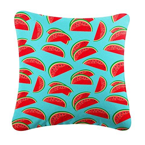 rucomfybeanbags Wassermelone Druck Indoor/Outdoor 40Cm Kissen - Türkis