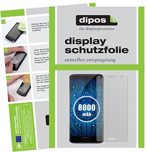 dipos I 2X Schutzfolie matt passend für Oukitel K8000 Folie Bildschirmschutzfolie