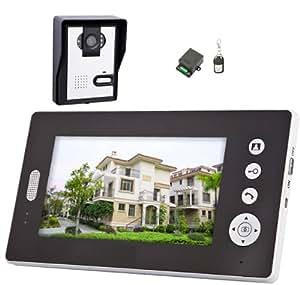 Visiophone Sans Fil Solaire - Mobile - Prise Photos - Interphone Video couleur écran 18cm - Portée 100 m