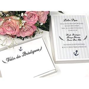 Hochzeit Geschenk Vater des Bräutigams- Stofftaschentuch für Freudentränen - Brautvater