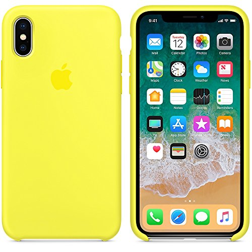 A & w 2018 estate ultima custodia in silicone per iphonex (iphone x, giallo fluo)
