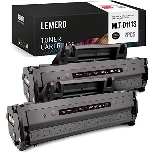 LEMERO 2-Pack MLT-D111S MLTD111S Toner Compatibile per Samsung MLT-D111S MLTD111S Nero per Samsung Xpress SL-M2070FW SL-M2070 SL-M2026W SL-M2026 SL-M2020 SL-2070W SL-M2022 SL-M2022W SL-M2020W
