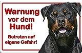 +++ ROTTWEILER - Metall WARNSCHILD Schild Hundeschild Sign - RTW 19 T57D