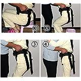 XYLUCKY Cuidado de la Salud Cinturón de cambio ajustable - Banda de restricción de seguridad de enfermería - El anciano Walker Walk Equipo de rehabilitación Cuidado de la salud para usuarios de sillas de ruedas