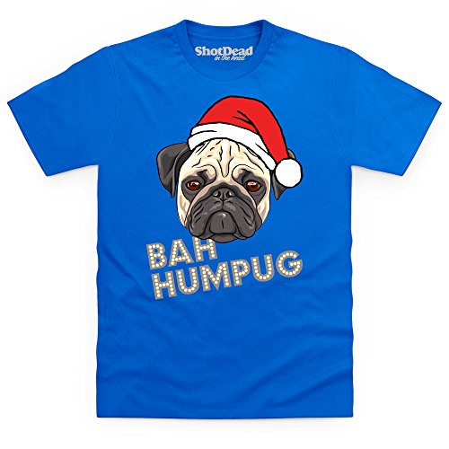 Bah Humpug T-Shirt, Herren Royalblau