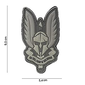 """Patch 3D PVC Spartan """"We Will Fight in the Shade"""" Gris / Cosplay / Airsoft / Camouflage …"""